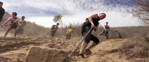 Obstacle Course training involves pulling your weight.