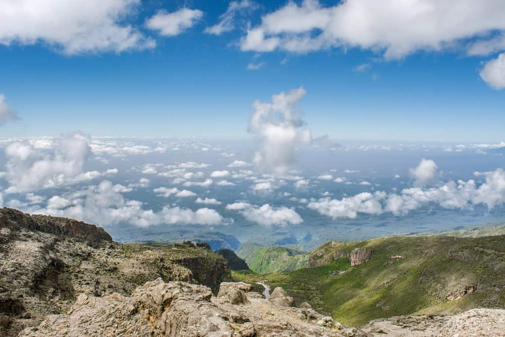 Climbing Kilimanjaro view