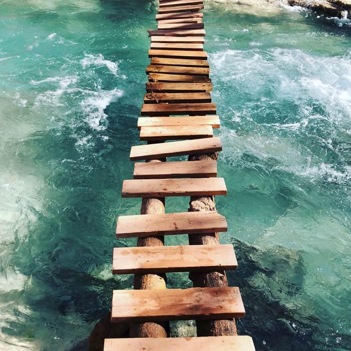 ladder bridge at havasu falls